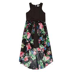 Emerald Gumdrops Sleeveless Skater Dress - Big Kid Girls