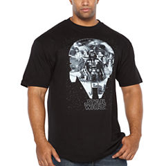 Starwars Millenium Short Sleeve Graphic T-Shirt-Big and Tall