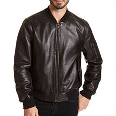Excelled Leather Bomber Jacket Big and Tall