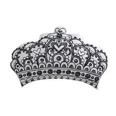 Laura Hart Kids Unicorn Princess Crown Throw Pillow