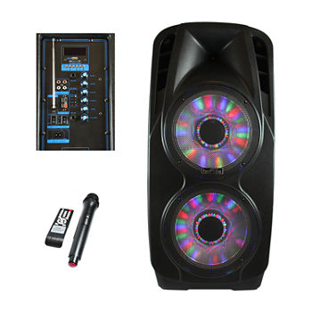 BeFree Sound 2x's 12 Inch Woofer Portable Bluetooth Powered PA Speaker