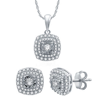 Ever Star 1 CT. T.W. Lab Grown Diamond 10K White Gold 2-pc. Jewelry Set