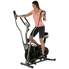 FITNESS REALITY E3000 2 in 1 Air Elliptical and Exercise Bike with Extended Multi Grip Dual Action Arms and Heart Rate Monitor