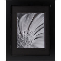 Black with Black Gallery Matted Picture Frame