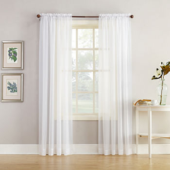 only at jcp cool white - White Sheer Curtains