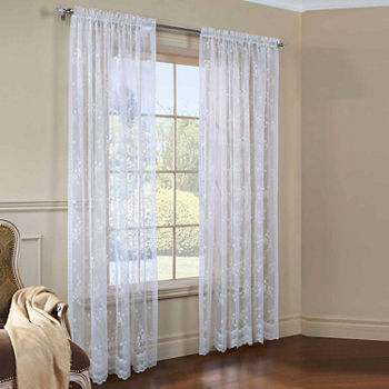 Lace White Curtains Drapes For Window