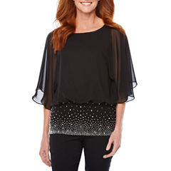 MSK Short Sleeve Woven Dress Shirt