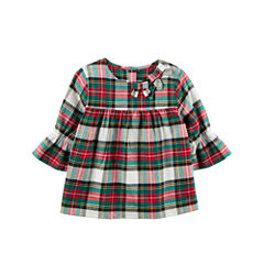 Carter's Elbow Sleeve Babydoll Top - Toddler Girls