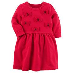 Carter's Long Sleeve A-Line Dress - Preschool Girls