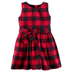 Carter's Sleeveless Checked A-Line Dress - Preschool Girls