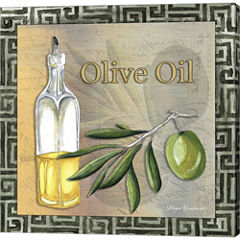Olive Oil 2 Gallery Wrapped Canvas Wall Art On Deep Stretch Bars
