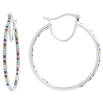 55b512f392d5f Sparkle Allure White Fashion Earrings for Jewelry & Watches - JCPenney