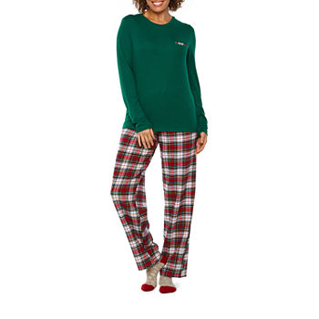 gray checked - Womens Christmas Nightgowns