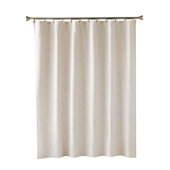 Saturday Knight Neutral Nuances Large Basket Weave Shower Curtain