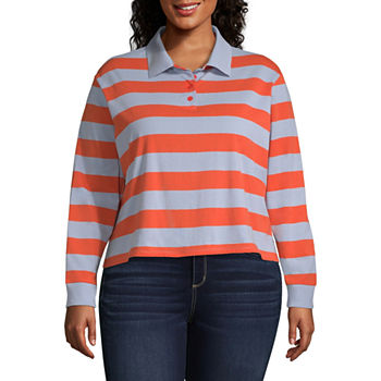 33dc61b526f73 Arizona Womens Long Sleeve Polo Shirt Juniors Plus. Add To Cart. Only at JCP