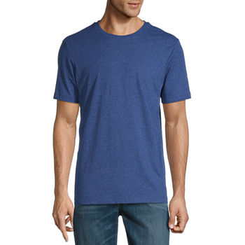 St. John's Bay Super Soft Heathered Mens Crew Neck Short Sleeve T-Shirt