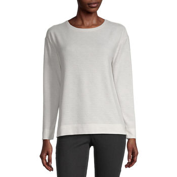 Liz Claiborne Womens Crew Neck Long Sleeve Sweatshirt