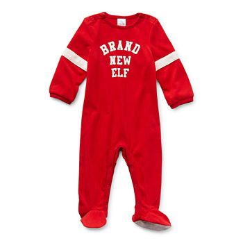 North Pole Trading Co. Tis The Varsity Season Baby Unisex Knit Long Sleeve One Piece Pajama