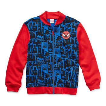 Marvel Little & Big Boys Spiderman Lightweight Bomber Jacket