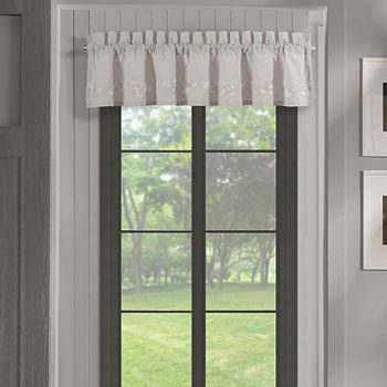 Queen Street Cherie Rod-Pocket Tailored Valance
