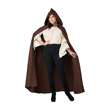 Adult Brown Hooded Cloak (Os) Unisex Adult Costume Unisex Adult Costume