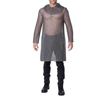 Adult Metallic Chainmail Tunic Unisex Costume