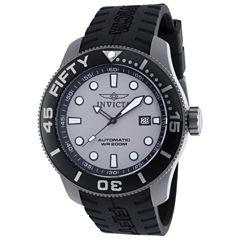 Invicta Mens Black Strap Watch-20520