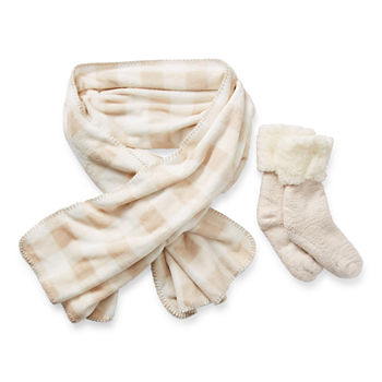 Mixit Wrap And Sock 2-pc. Cold Weather Set