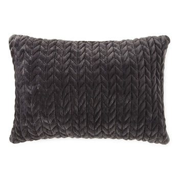 Loom + Forge Chevron Mink Lumbar Throw Pillow