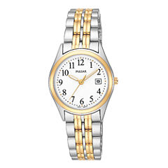 Pulsar® Womens Two-Tone Stainless Steel Bracelet Watch PXT588