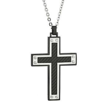 Mens cross fine necklaces pendants for jewelry watches jcpenney 3541 aloadofball Images