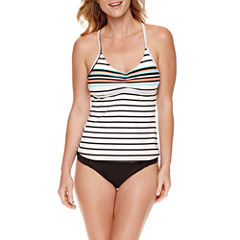 Liz Claiborne® Poolside Racerback Tankini or Side Sash Hipster