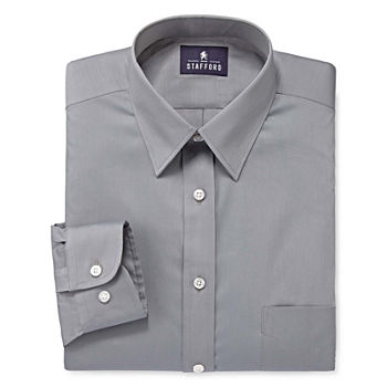Stafford Mens Comfort Stretch Big and Tall Dress Shirt