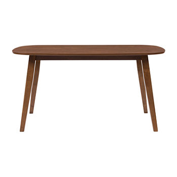 Tiffany Rectangular Wood-Top Dining Table