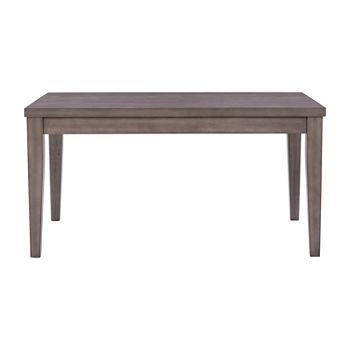 Corliving New York Dining Collection Rectangular Wood-Top Dining Table