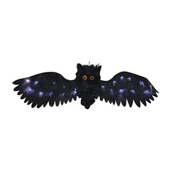 2.5 Feet Wide Black Light Up Owl