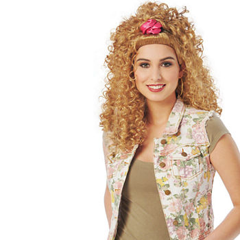 Adult 80'S Scrunchie Sweetie Wig