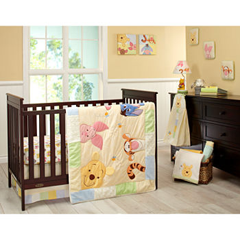 Disney King Pooh 7 Pc Crib Set Pair Bedding
