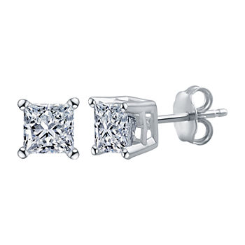 Deluxe Collection 1/4 CT. T.W. Genuine White Diamond 14K White Gold 3.4mm Stud Earrings