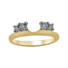 1/4 CT. T.W. Diamond 14K Yellow Gold Ring Enhancer