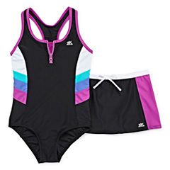 Zeroxposur Pattern One Piece Swimsuit Big Kid Girls