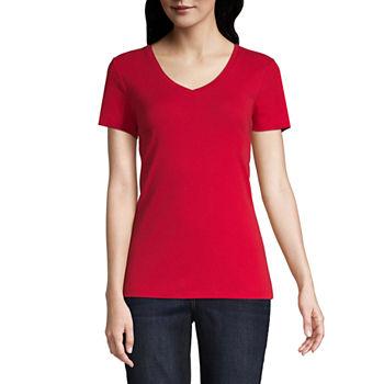 59e961901d84 Women's T-Shirts | V-Neck Shirts for Women | JCPenney