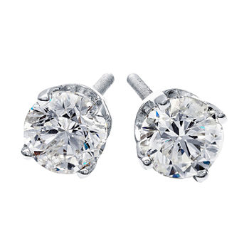 Premier Collection 1 CT. T.W. Diamond 14K White Gold Stud Earrings