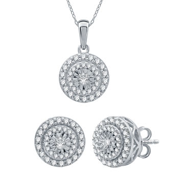 Ever Star 1 CT. T.W. Lab Grown White Diamond 10K White Gold Round 2-pc. Jewelry Set