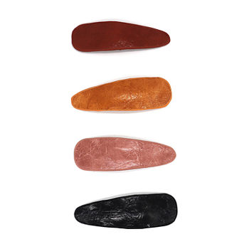 Mixit Leather 4-pc. Hair Clip