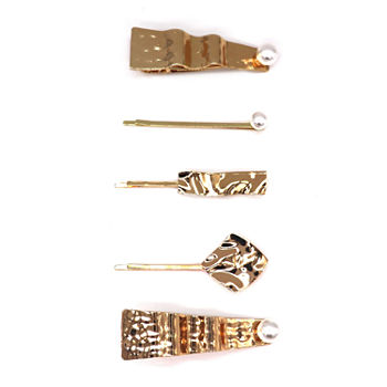 Mixit Textured Metal 5-pc. Hair Clip