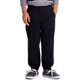 Haggar Sustainable Jogger Little & Big Boys Cuffed Jogger Pant
