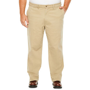 The Foundry Big & Tall Supply Co. Mens Mid Rise Regular Fit Flat Front Pant