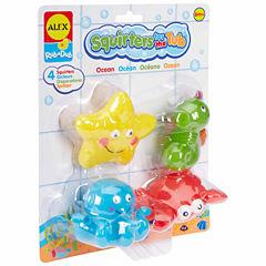 ALEX TOYS Rub A Dub Bath Squirters Ocean 4-pc. Toy Playset - Unisex
