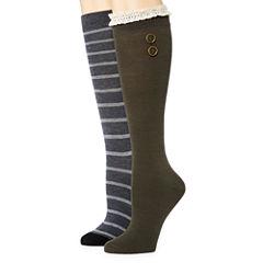 Libby Edelman 2 Pair Knee High Socks - Womens